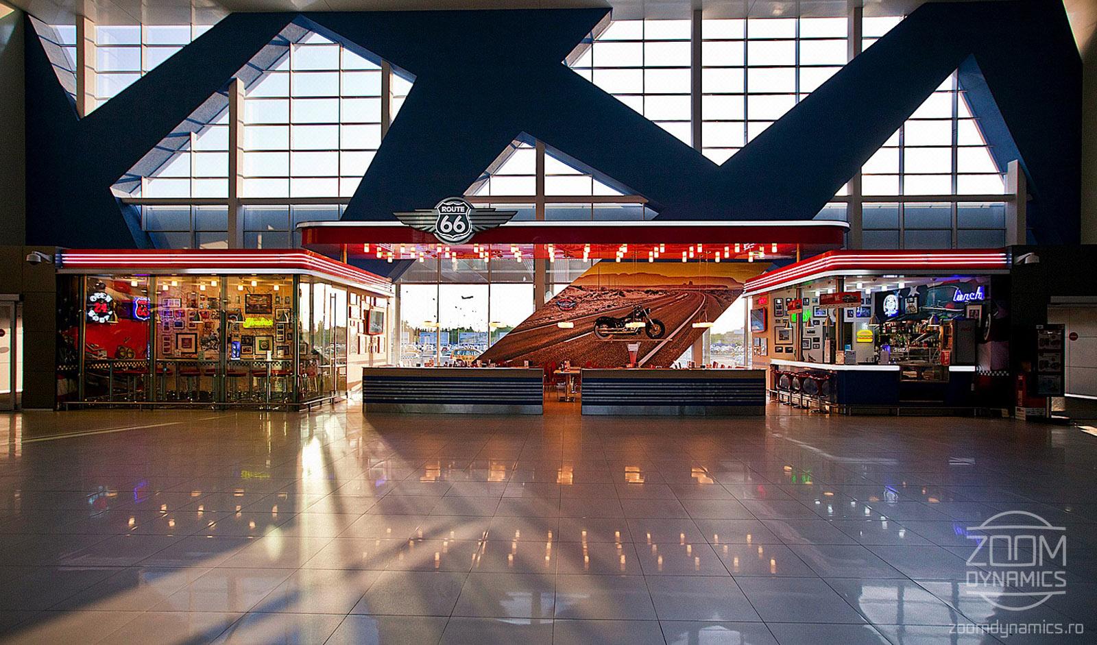 Route 66 - American Diner - Henri Coanda International Airport