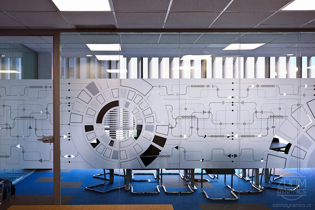 Infosys Consulting - Design interior - pereti sticla