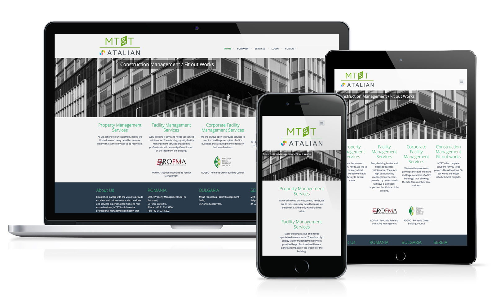 MT&T Property Management - web site