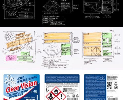 zoom dynamics design eticheta pro-x retail flacon pet 5l