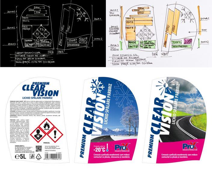 zoom dynamics design eticheta pro-x retail flacon pet 5l dino
