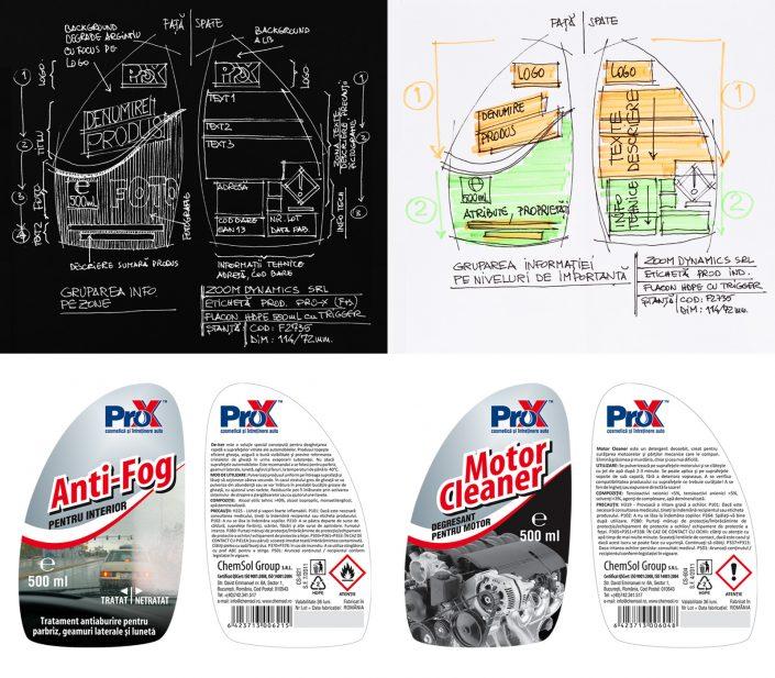 zoom dynamics design eticheta pro-x retail flacon 500ml cu trigger